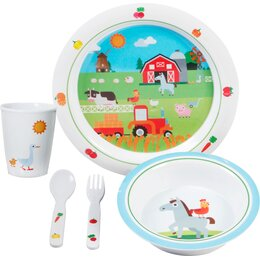 Brunner Set Farm Boy Kids 3+ Kindergeschirr Melamin 5 teilig