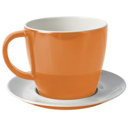 Brunner Tasse mit Untertasse Flame Orange Melamin Antislip